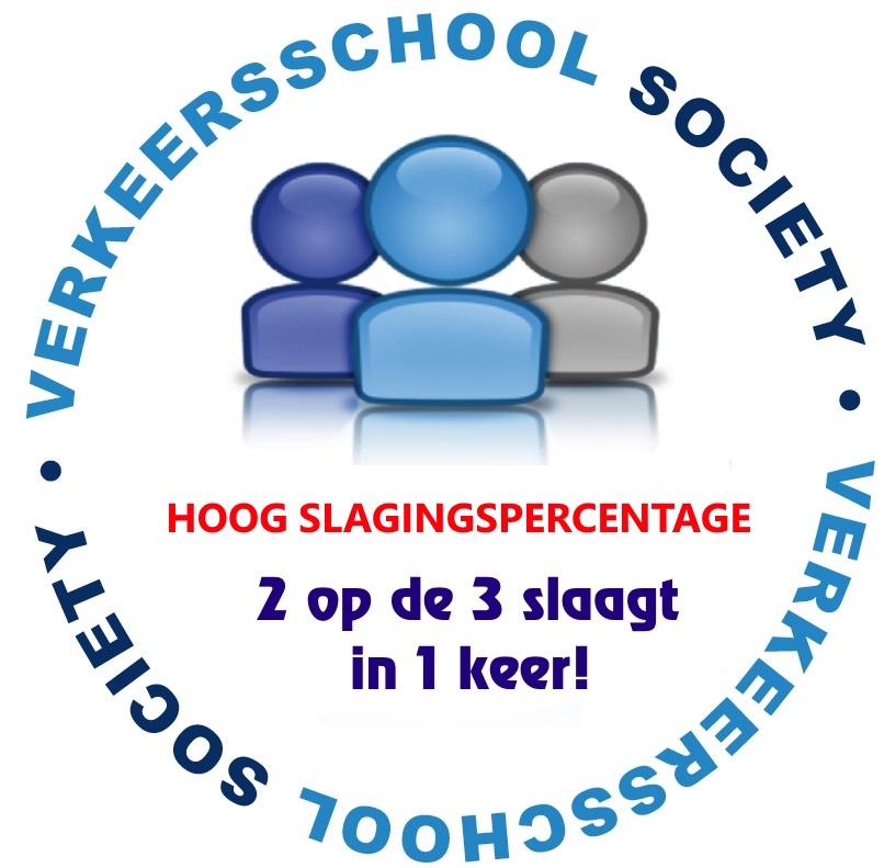 verkeersschool-society HOOG SLAGINGSPERCENTAGE